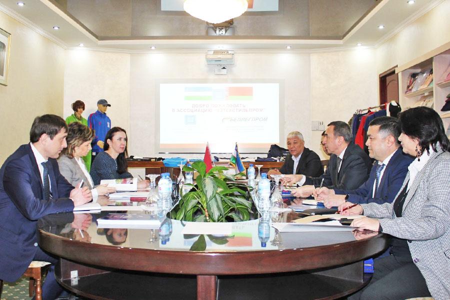 Делегация Государственного концерна Беллегпром» в Узбекистане